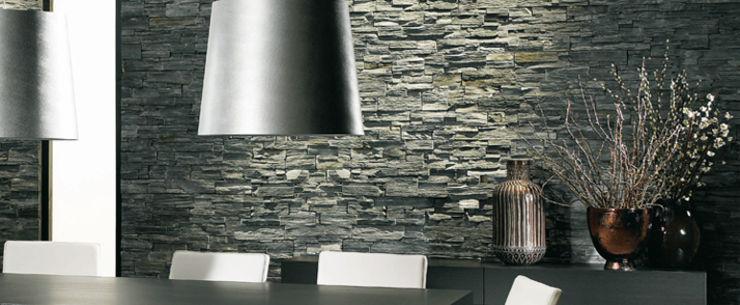 Panel De Piedra Natural Stonelpanel En Taco Negro De Cupamat